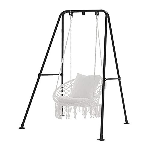 G TALECO GEAR Hammock Chair Stand,Heavy-Duty Steel Hammock Stand,Multi-Use Swing Chair with Stand for Outdoor Indoor
