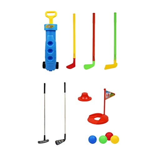 TOYANDONA 9St Golf Speelgoed Plastic Golf Clubs Educatieve Golf Sets Sport Speelgoed Ouder-Kind Buiten Spelen Speelgoed Voor Peuters Kinderen Willekeurige Kleur