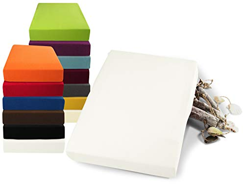 npluseins Luxus Wasserbett Spannbettlaken weiß 180-200 x 200-220 cm
