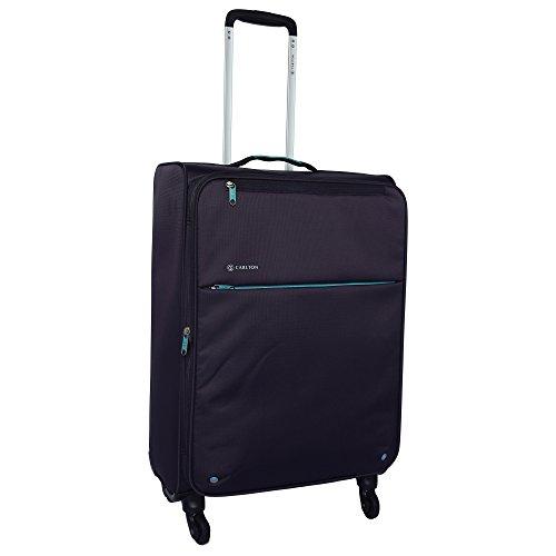 Carlton Synthetic Zipper Closure Unisex Soft Purple Trolley