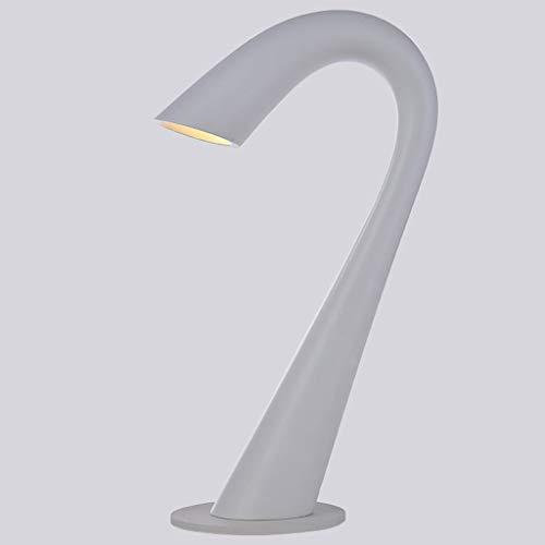BXU-BG Lámparas de mesa, Personalidad moderno simple creativo de la manera pequeñas lámparas de mesa, lámpara de cabecera del dormitorio, E14 luz de la noche de lectura (Color : White)