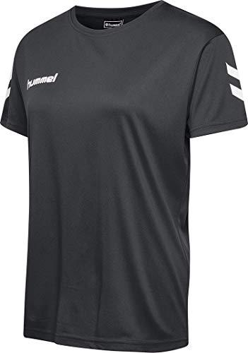 hummel Damen CORE Poly Tee Woman S/S T-Shirts, Asphalt, M