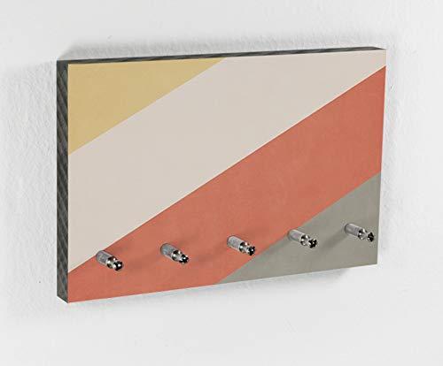 Schlüsselbrett | Canyon | Color Bars | 5 Haken | Vintage Farben | Natur | Deko Trend | Hakenleiste | Flur | Diele | Ordnung halten | Design
