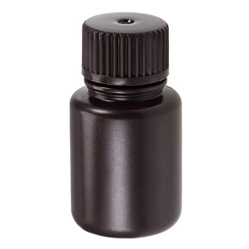 sourcing map Reagenzflasche 25ml Probensiegelflüssigkeit Vorratsbehälter Braun Kunststoff