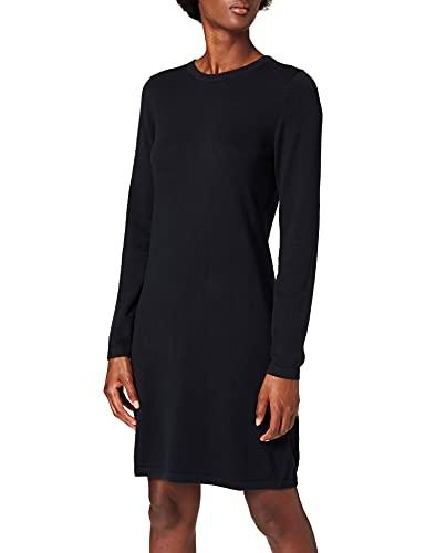 edc by ESPRIT Damen Essential Strick Kleid, 001/BLACK, M
