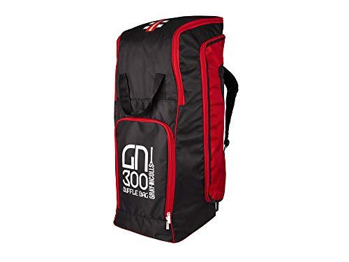 Gray-Nicolls GN300 - Borsone da Viaggio, Colore: Nero/Rosso