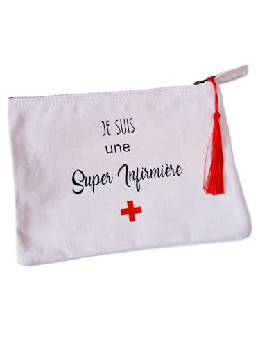 Trousse Je Suis une SUPER INFIRMIERE- cadeau personnalisable