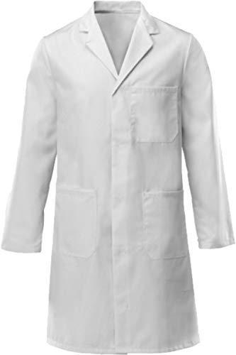 Weißer Laborkittel für Kinder, 100% Baumwolle, Medizin, Arzt, Lebensmittel, Vorführung, 100 % Baumwolle, weiß, 8-11 YEARS OLD