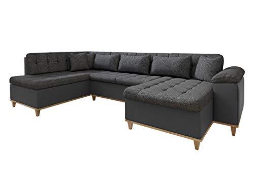 Eckcouch Ecksofa Nikos, Sofa mit Schlaffunktion, U-Form Couch, Große Farbauswahl, Wohnlandschaft vom Hersteller (Soft 020 + Majorka 03, Seite: Rechts)