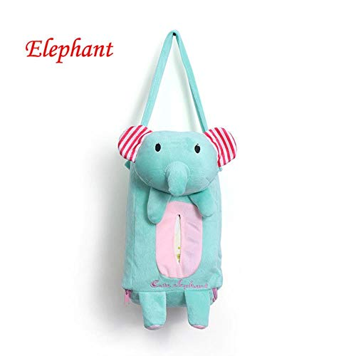 LASISZ Cute Cartoon Car Seat Back Cover Holder Paper Napkin Box Tissue Box Car Accessories Styling,Blue