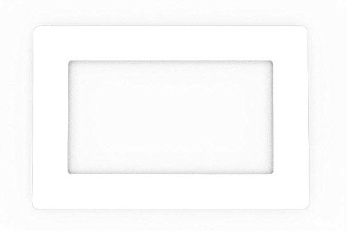 Focus Plastics DOUBLE LIGHT SWITCH SOCKET COLOURED ACRYLIC SURROUND FINGER PLATE - HUGE COLOUR CHOICE (White)