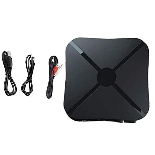 Yililay Receptor Transmisor inalámbrico 2-en-1 de 3,5 mm AUX Baja latencia Adaptador de Audio para la TV económico práctico