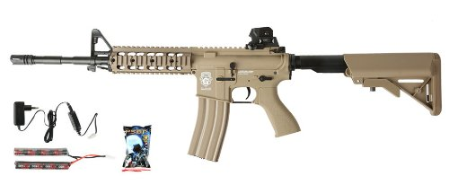 G & G GR15 RIS Raider L BlowBack Komplettset AEG Softair 6mm BB Desert Tan