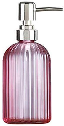 Dispensador de jabón Dispensador de jabón Dispensador de jabón Dispensador de vidrio transparente Botella de bomba de jabón para baño, cocina, botella de jabón de decoración para lociones, jabones líq