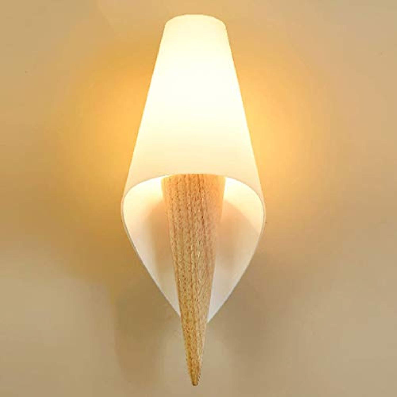 NHX LED Wandleuchte Wandlampe Creative Bett Wandbeleuchtung Indoor Wohnzimmer Badezimmer Holz Wandlicht Wandstrahler Downlighter Weies Licht