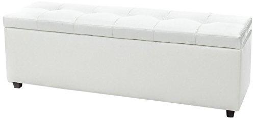 Wink Design, Nice, Cassapanca, Bianco, 144 x 48 x 47 cm