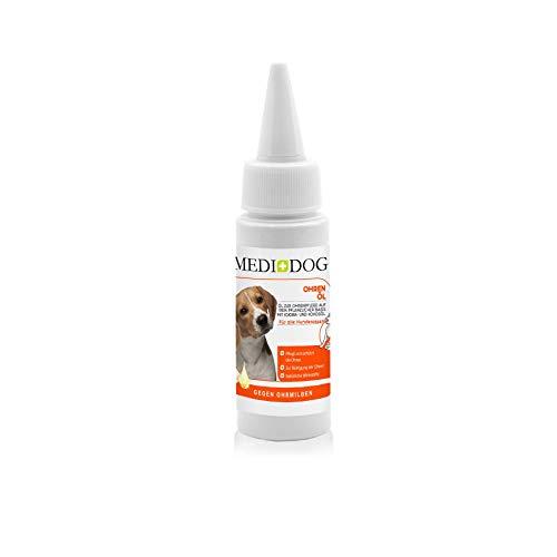 Medidog Ohrentraum Pflegeöl für Hunde und Katzen, gegen Ohr Milben, Ohrenöl Extrakt, Ohrmilben, Ohrenreiniger, Ohrenpflege, ohne Alkohol, Extra Sanft gegen Jucken, Milbenöl, 50ml