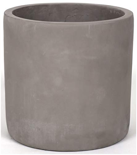 Finehous Cement Planter Pot with Drainage for Indoors – Medium Concrete Planter Pot