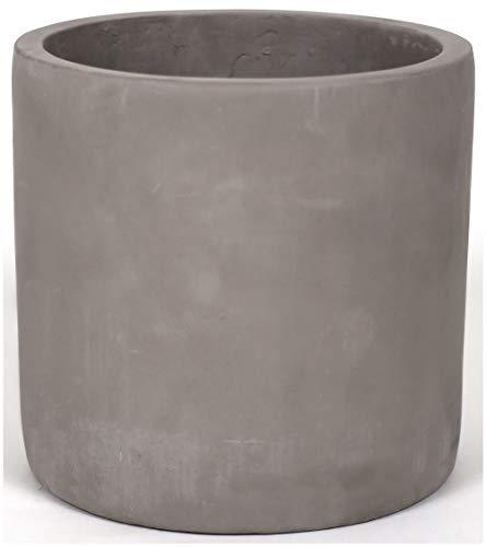 Finehous Cement Planter Pot with Drainage for Indoors – Medium Concrete Planter Pot