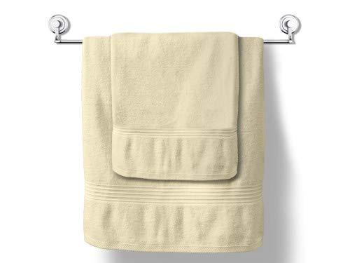 MODHAUS Handtuch Duschtuch Mistral 70x140 cm 100% Baumwolle Frottee Vanille