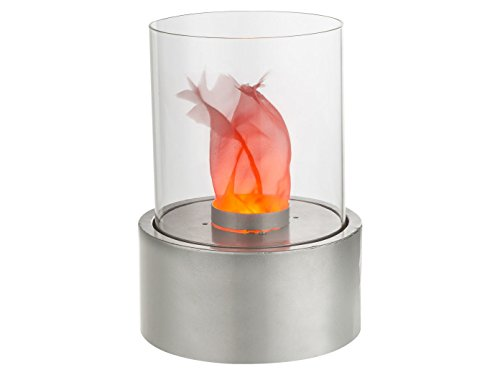 Effectieve LED-tafellamp FIRE in design tafelhaard, glas Ø 21 cm, Globo Lighting