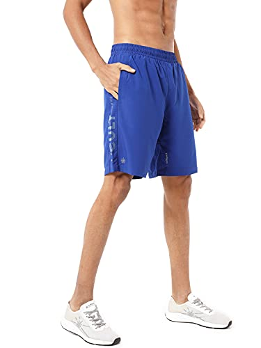 CULTSPORT Men's Polyester FlashRun Reflective Signature Running Regular Fit Shorts (Black) (CS601014_P)