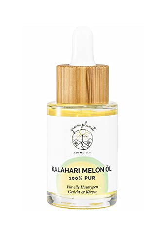 green planet . COSMETICS. | Aceite de Melón Kalahari Prensado en Frío | Cosmética Natural | Para Rostro y Cuerpo | 100 % Puro y Vegano | 30 ml