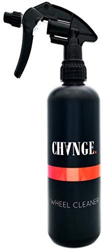 CHANGE Cleaning Wheel Cleaner Profi Felgenreiniger + lila Wirk-Indikator, pH-neutral, säurefrei, 500ml plus Gel-Formel für Alufelgen, folierte-, lackierte-, Chrom-, LKW- und Motorrad