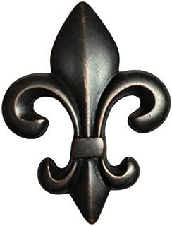 Fleur-de-Lis Bronze Drawer Knob Pull Handle | Antique Cabinet Door, Vintage Dresser, Old Desk Furniture Hardware | K34-P2682OB (1)