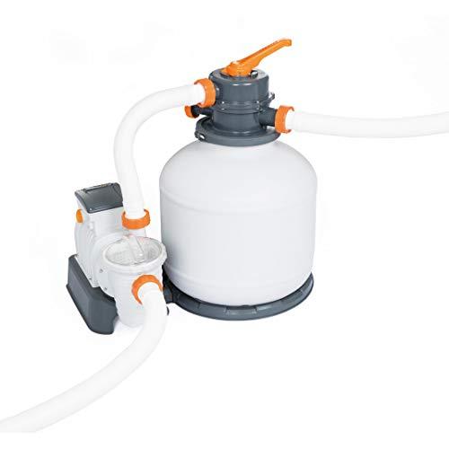 Bestway Flowclear, Sandfilteranlage mit Zeitschaltuhr 5.678 l/h für Gartenpools, inklusive ChemConnect Chemikaliendosierer