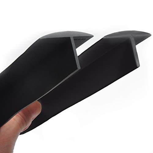 Silikon-Ofenlückenabdeckung, extra lang, 76,2 cm (für 3–25 mm Spaltspalt), Küchenspaltenfüller, 1,2 cm tiefer Einsatz, 284 g, Einheitsgröße, passend für 21 & 25 (2er-Set, schwarz)