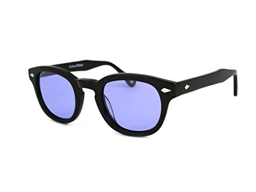 X-LAB Gafas de sol 8004 estilo moscot lentes polarizadas unisex (negro, lila)