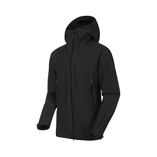 Mammut Herren Hardshell-Jacke mit Kapuze Masao Hooded, schwarz, XL
