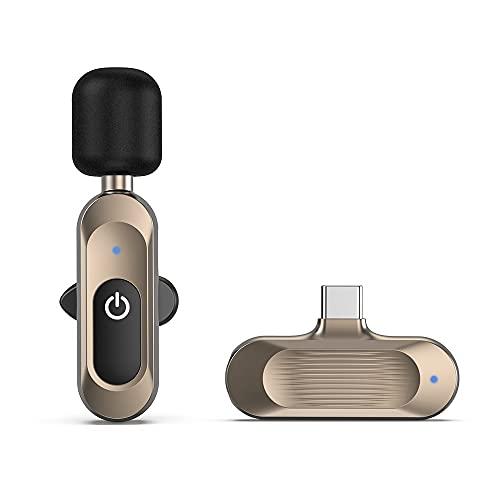 BMDHA Microfono Lavalier Inalambrico Plug-Play,Microfono Inalambrico SincronizacióN AutomáTica ReduccióN De Ruido Baja Latencia,MicróFono InaláMbrico(No Se Requiere App Ni Bluetooth)