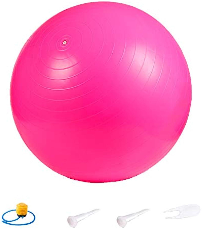 Yoga Ball Thickening Gym Massage Ball Hotel Sports Yoga Ball Balance Ball Stability (Multiple Sizes)