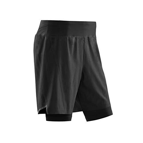 CEP – RUN 2IN1 SHORTS 3.0 für Herren   Kurze Sporthose mit Kompression in schwarz   Größe II