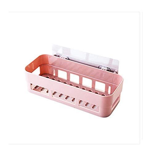 DFGER Estantes de Baño Estante de baño Estante de Almacenamiento de Adhesivo Estante de Ducha de Esquina Cocina Decoración del hogar Accesorios de baño (Color : Pink)