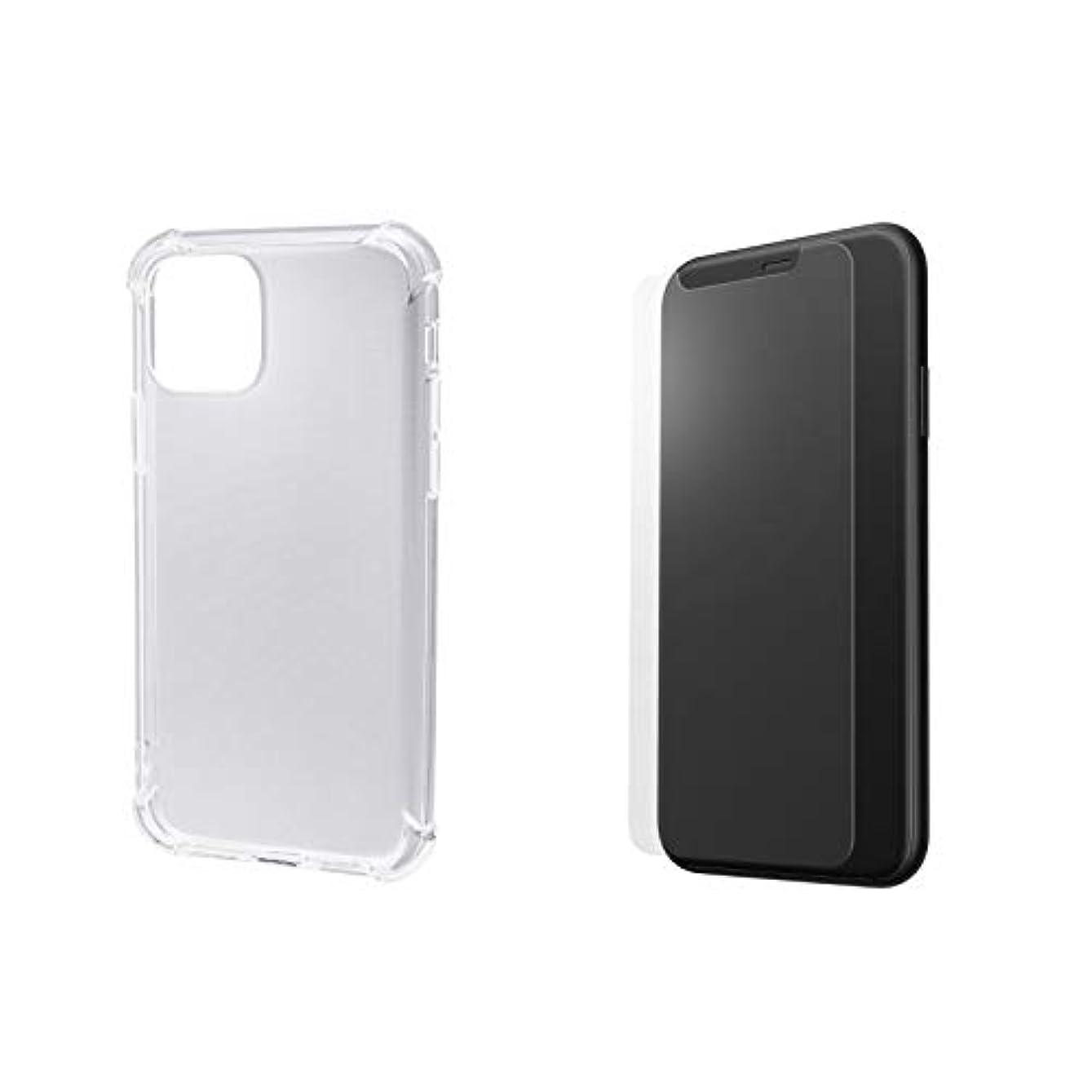 社会神学校自体【返金保証付き】2019 iPhone 11シリーズ 対応 TPUクリアケース カバー 液晶保護ガラス セット (11 Pro)