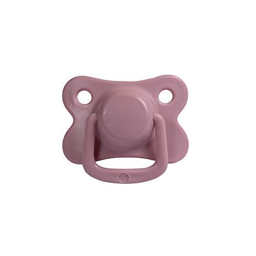 Filibabba® Schnuller 2er Set | Baby Schnuller aus Silikon in schönen matten Farben | Kiefergerechte Schnuller | Dänisches Design | 2 Stück mit Schnuller Box (Dusty Rose, 6+ Monate)