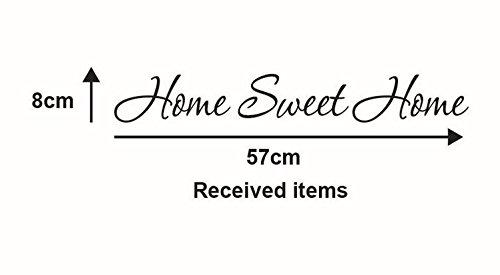 "Adesivi Murali Frasi Scritte""home sweet home"" Adesivi da Parete Amovibile Decorazione per Muri 57 * 8cm"