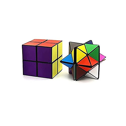 JJA Infinity Cube, Anti-Stress Fidget Magic Star Cube 2 in 1 ,Puzzle Infinity Cube, Time Killer Fidget Finger Toy for Anxiety and Stress Relief, Colorful Fidgeting Cube for Adults & Kids