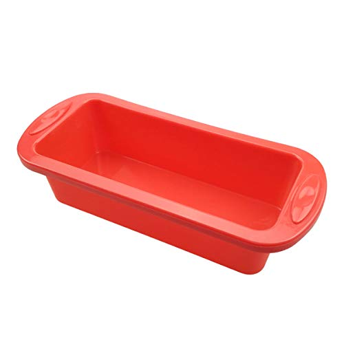 Silicone Bread and Loaf Pan - SILIVO Non-Stick Silicone Baking Mold for Homemade Cake, Bread, Meatloaf and Quiche - 8.9'x3.7'x2.5'