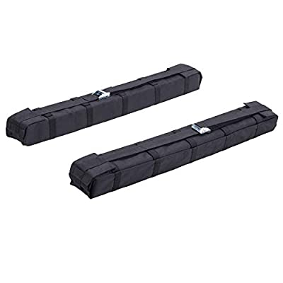 Orion Motor Tech Lightweight Anti-Vibration Universal Car Soft Roof Rack Pad for Kayak/Canoe/Surfboard/Paddleboard/SUP/Snowboard and Water Sports Accessories with Adjustable and Substantial Straps