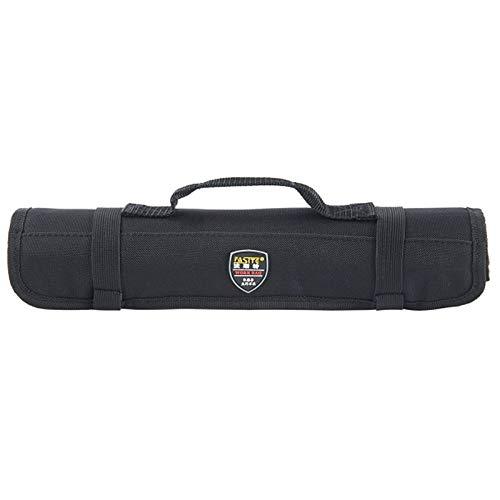 UBORSE Werkzeug Rolltasche Werkzeugetasche Nylon mit 20 Einsteckfächer für Elektriker Mechaniker Handwerker (Schwarz)