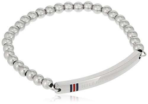 Tommy Hilfiger Jewelry Damen-Armband Classic Signature Edelstahl Emaille, Silber 16 cm - 2700786