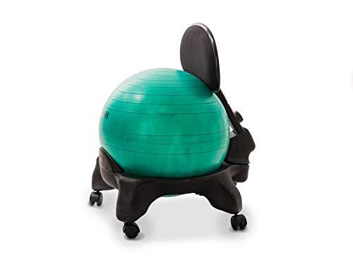 Kikka PLUS Active Chair Verde Smeraldo - Sedia Ergonomica con Pallone Gonfiabile e Schienale Regolabile