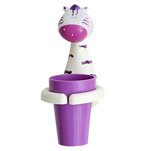 circulor Zahnbürstenhalter Kinder, Zahnputzbecher Kinder Bürstender Becherhalter Der Karikaturkinder Für Badezimmer