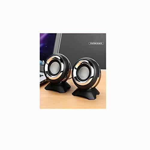 Altavoz portátil con cable universal recargable con cable de carga USB, compatible con smartphones, adecuado para altavoces de escritorio o portátiles   AC (2 juegos de altavoces pequeños)