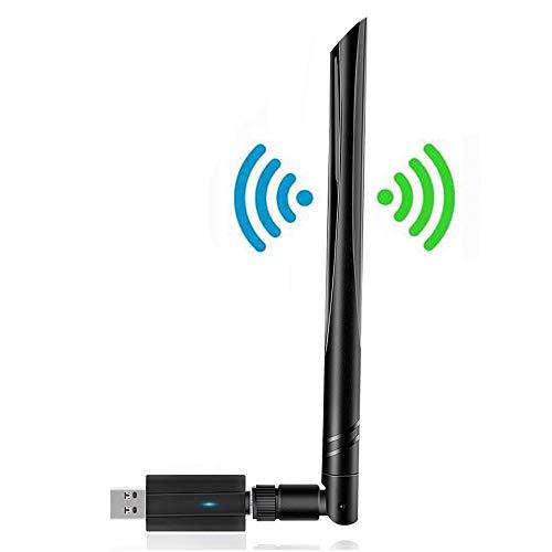 PATISZON WLAN Stick, WiFi Adapter USB 1200Mbit/s (5.8G/867Mbps+2.4G/300Mbps) Dual Band Wireless für PC Desktop/Windows/Mac/Laptop