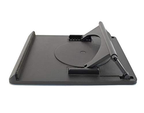 Swivel Laptop Stand: adjustable height rotating desktop computer riser for notebooks under 15�. Portable ergonomic macbook pro computer cooler cooling